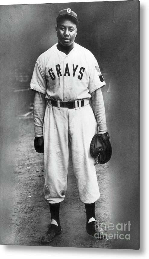 People Metal Print featuring the photograph Portrait Of Josh Gibson In Grays Uniform by Bettmann