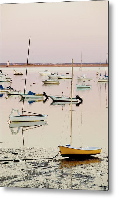 Sailboat Metal Print featuring the photograph Provincetown Harbor by Walter Bibikow