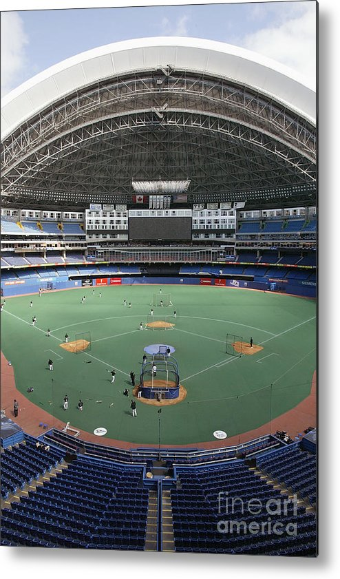 People Metal Print featuring the photograph Red Sox V Bluejays by Rick Stewart