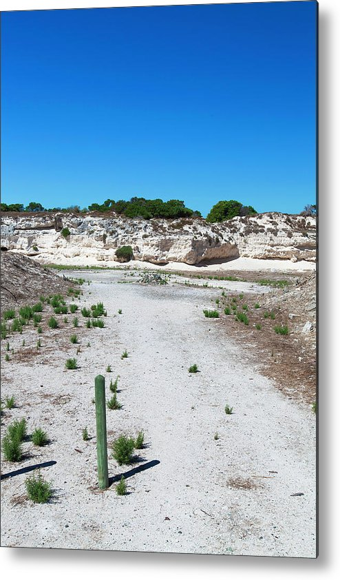 Tranquility Metal Print featuring the photograph Robben Island Quarry Stone Pile by Iselin Valvik Photography