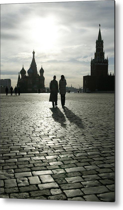 Shadow Metal Print featuring the photograph Russia, Moscow, Red Square, Silhouette by Will & Deni Mcintyre