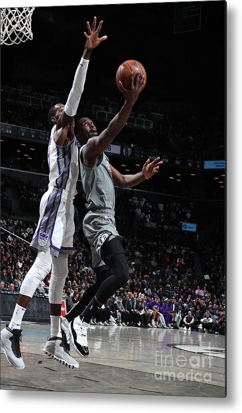 Nba Pro Basketball Metal Print featuring the photograph Sacramento Kings V Brooklyn Nets by Nathaniel S. Butler