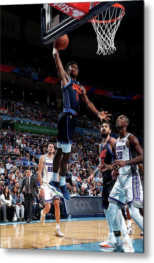 Nba Pro Basketball Metal Print featuring the photograph Sacramento Kings V Oklahoma City Thunder by Joe Murphy