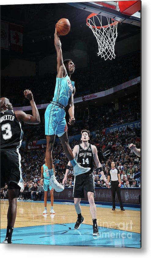 Nba Pro Basketball Metal Print featuring the photograph San Antonio Spurs V Oklahoma City by Zach Beeker