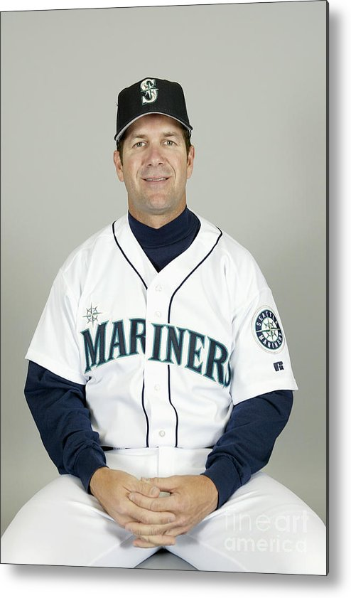 American League Baseball Metal Print featuring the photograph Seattle Mariners Headshots by Major League Baseball Photos