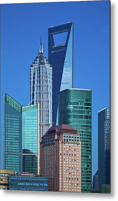 Chinese Culture Metal Print featuring the photograph Shanghai Landmark Building by Ithinksky