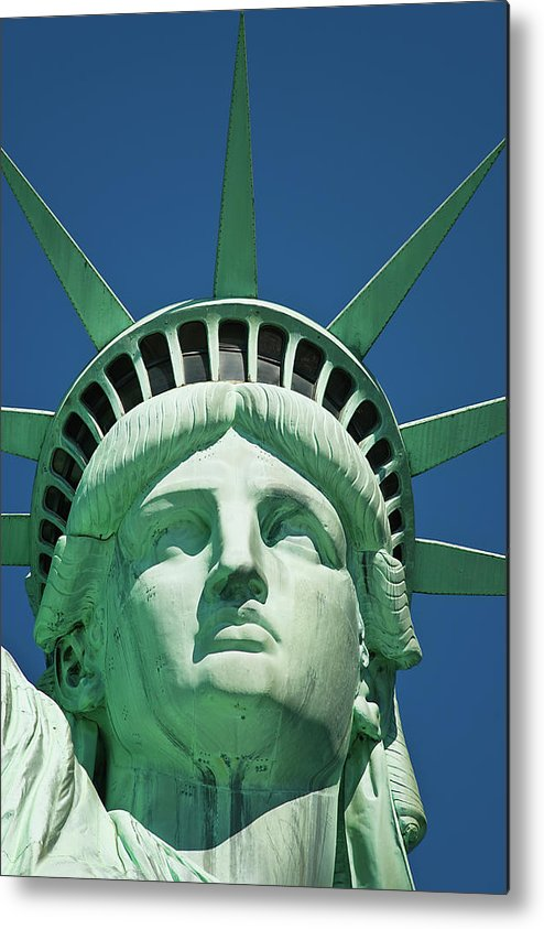 Crown Metal Print featuring the photograph Statue Of Liberty by Tetra Images