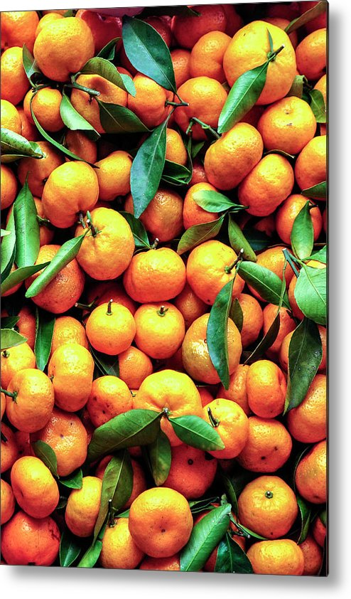 Orange Metal Print featuring the photograph Sweet Oranges by Gabriel Perez