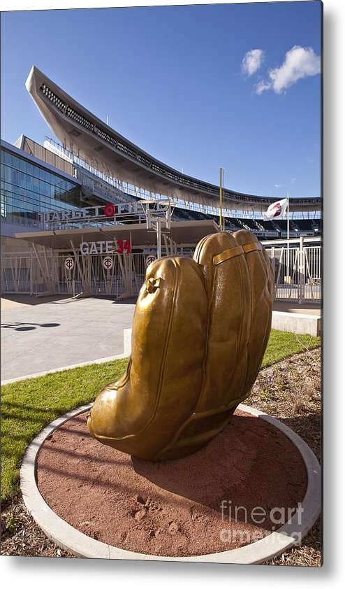 American League Baseball Metal Print featuring the photograph Target Field Previews by Wayne Kryduba