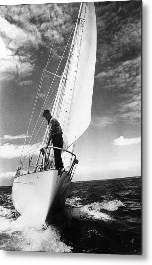 Wind Metal Print featuring the photograph Test Sail by David Ashdown