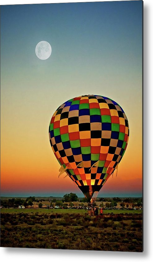 Southwest Metal Print featuring the photograph The Dawn of Light, 2017 Albuquerque International Balloon Festival by Zayne Diamond Photographic
