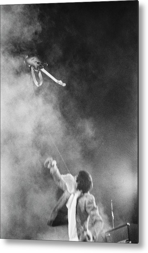 Rock Music Metal Print featuring the photograph The Who Performing In Flint, Mi by Michael Ochs Archives