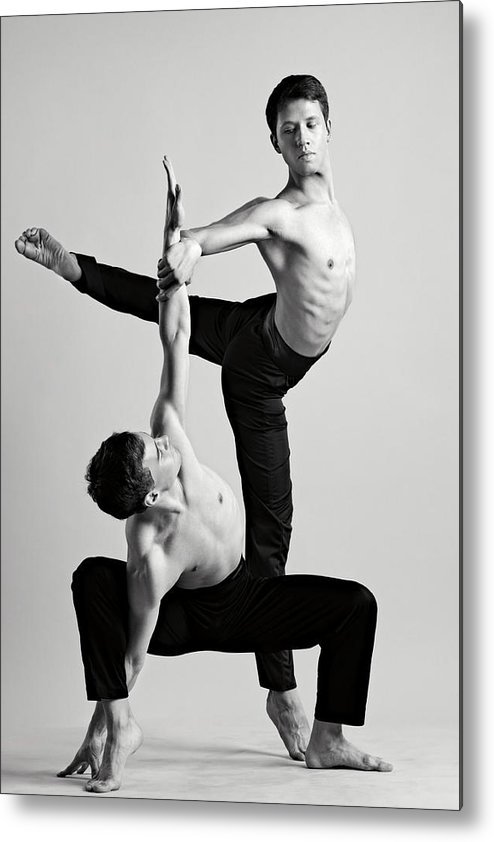 Ballet Dancer Metal Print featuring the photograph Two Men Dance by Oleg66