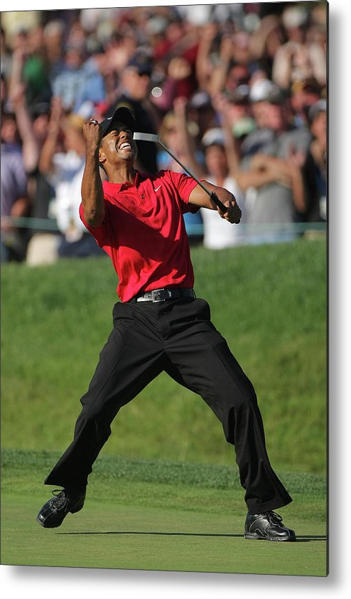 Tiger Woods Metal Print featuring the photograph U.s. Open Championship - Final Round by Doug Pensinger