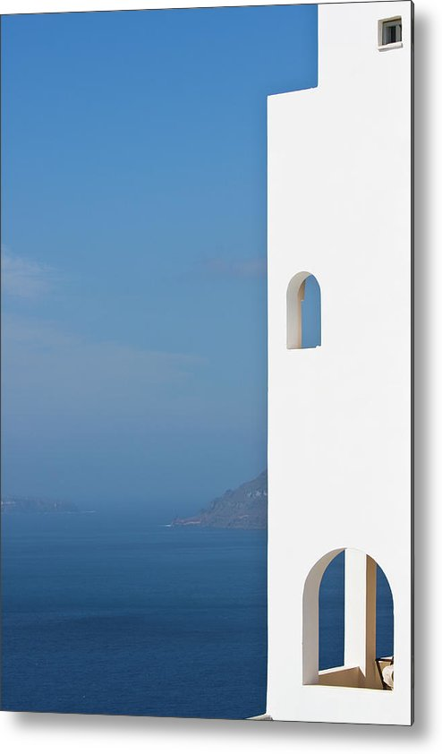 Greece Metal Print featuring the photograph Windows To The Blue by Arturbo