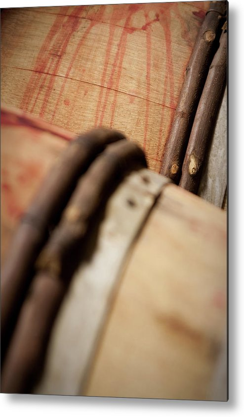 Fermenting Metal Print featuring the photograph Wine Barrels by Chrispecoraro