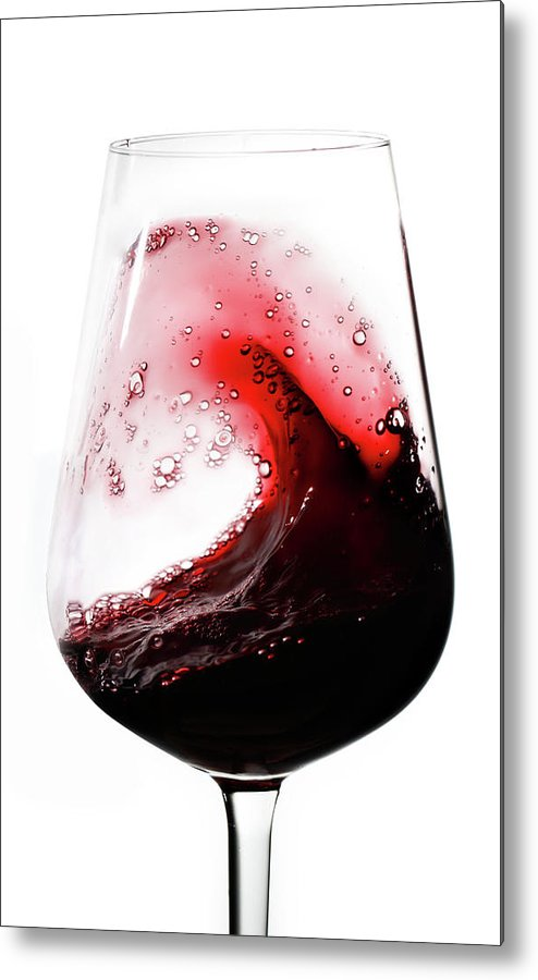 Curve Metal Print featuring the photograph Wine Waves by Seraficus