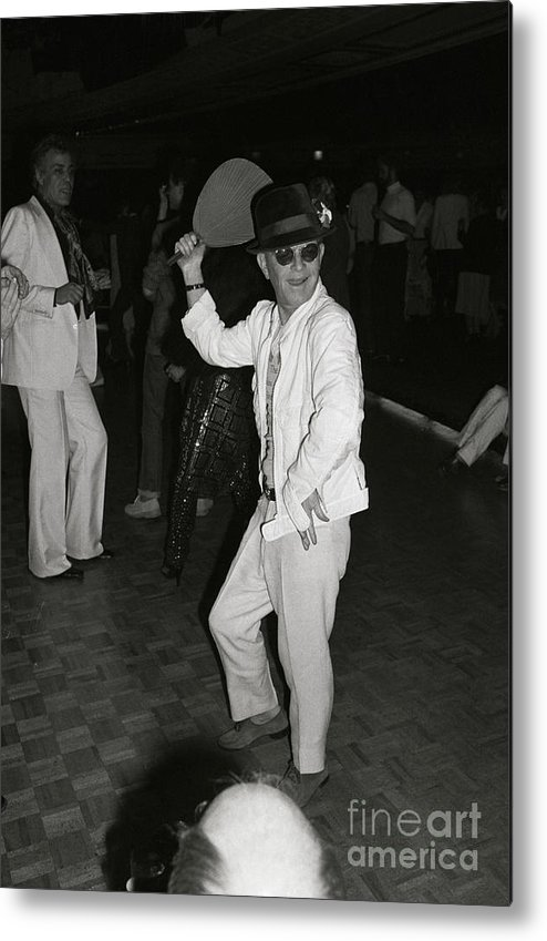 People Metal Print featuring the photograph Writer Truman Capote Doing Fan Dance by Bettmann