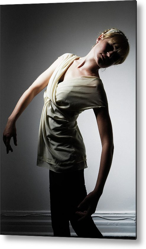 Ballet Dancer Metal Print featuring the photograph Young Woman Performing Dance by Win-initiative/neleman