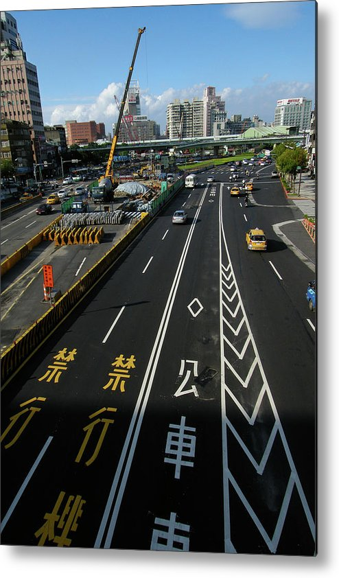 Shadow Metal Print featuring the photograph Zhonghua Rd by Copyright Of Eason Lin Ladaga