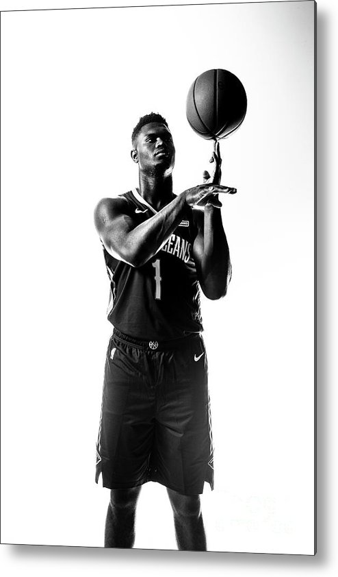 Nba Pro Basketball Metal Print featuring the photograph Zion Williamson by Sean Berry