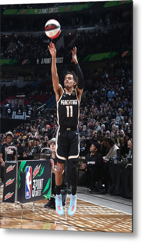 Nba Pro Basketball Metal Print featuring the photograph 2020 NBA All-Star - MTN DEW 3-Point Contest by Nathaniel S. Butler