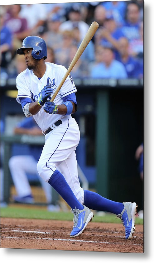 Second Inning Metal Print featuring the photograph Alcides Escobar by Ed Zurga