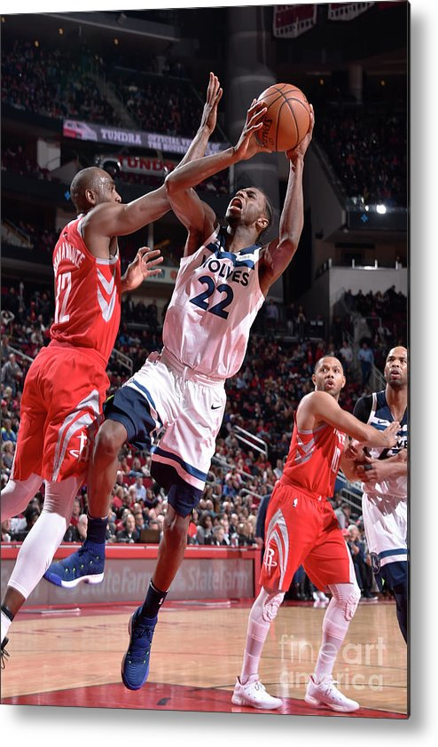 Nba Pro Basketball Metal Print featuring the photograph Andrew Wiggins by Bill Baptist