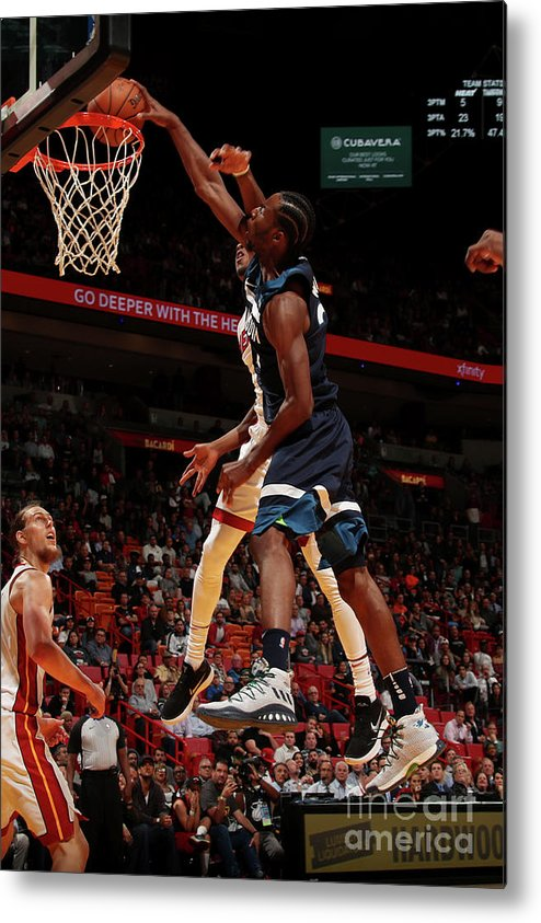 Nba Pro Basketball Metal Print featuring the photograph Andrew Wiggins by Issac Baldizon