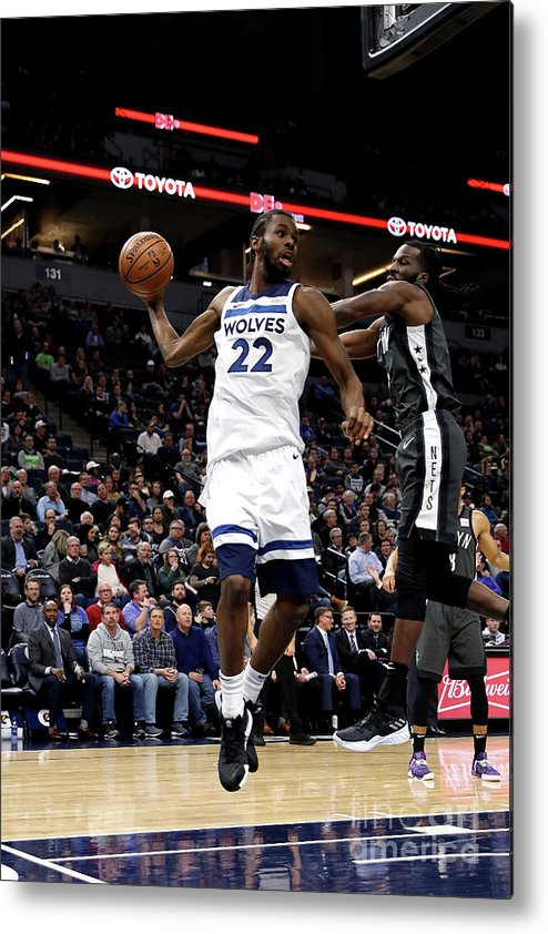 Nba Pro Basketball Metal Print featuring the photograph Andrew Wiggins by Jordan Johnson