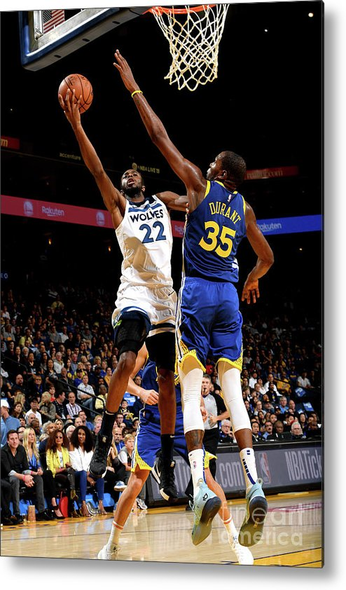 Nba Pro Basketball Metal Print featuring the photograph Andrew Wiggins by Noah Graham