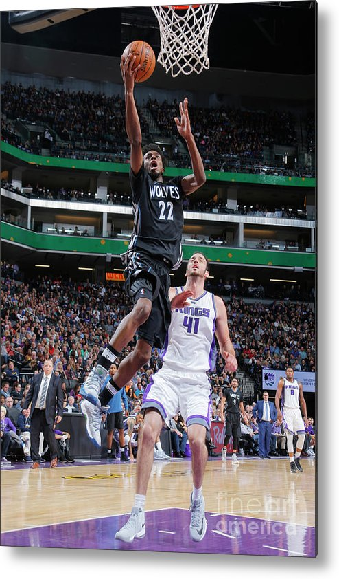 Nba Pro Basketball Metal Print featuring the photograph Andrew Wiggins by Rocky Widner