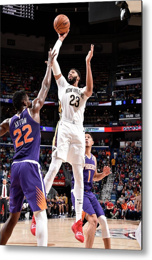 Smoothie King Center Metal Print featuring the photograph Anthony Davis by Bill Baptist