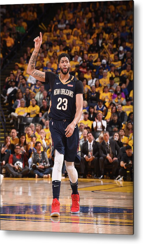 Playoffs Metal Print featuring the photograph Anthony Davis by Noah Graham