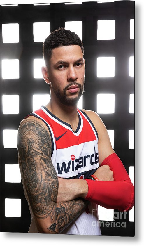 Media Day Metal Print featuring the photograph Austin Rivers by Stephen Gosling