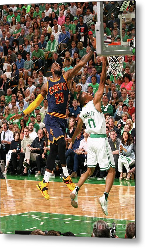 Playoffs Metal Print featuring the photograph Avery Bradley and Lebron James by Nathaniel S. Butler