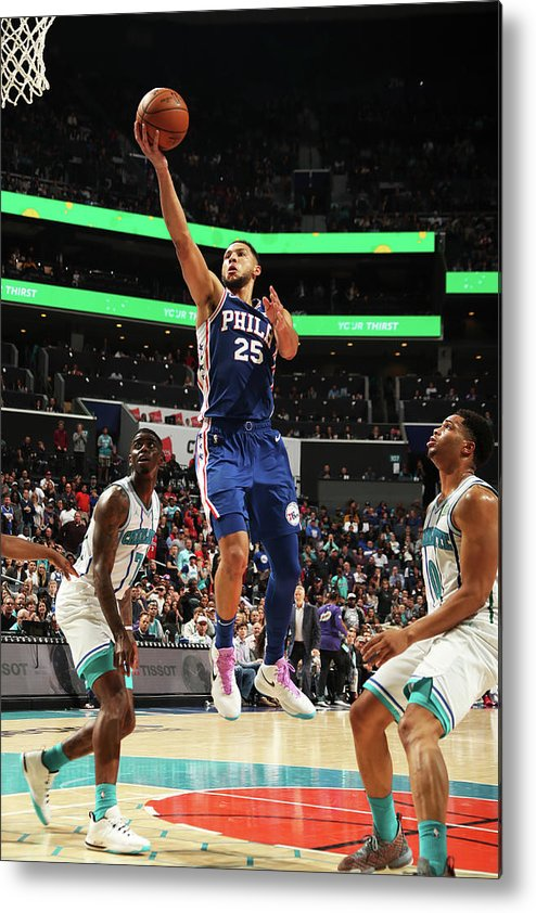 Nba Pro Basketball Metal Print featuring the photograph Ben Simmons by Kent Smith
