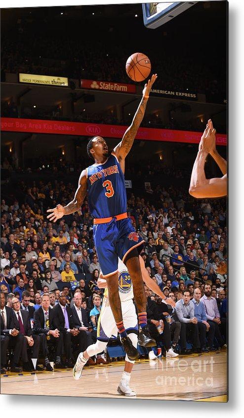 Nba Pro Basketball Metal Print featuring the photograph Brandon Jennings by Noah Graham