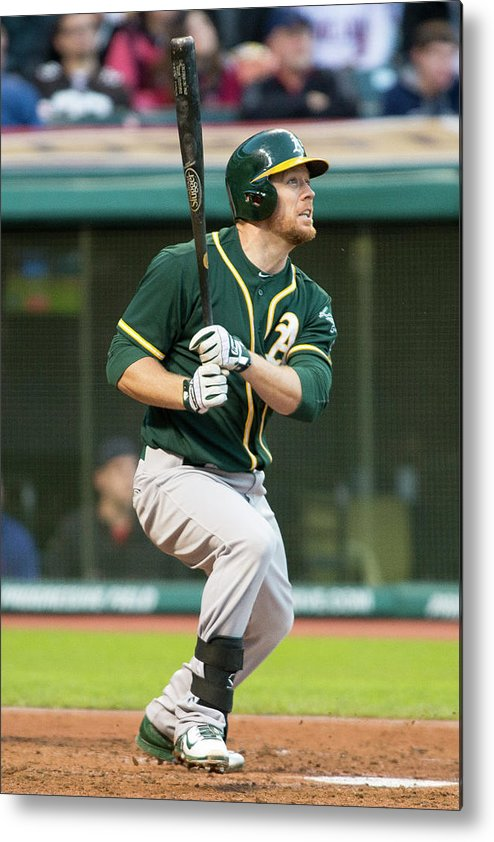 American League Baseball Metal Print featuring the photograph Brandon Moss by Jason Miller
