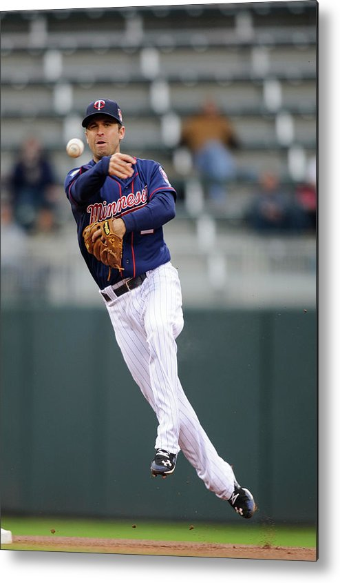 Game Two Metal Print featuring the photograph Brian Dozier by Hannah Foslien