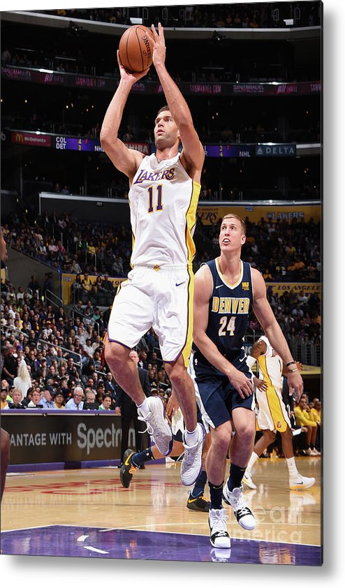 Nba Pro Basketball Metal Print featuring the photograph Brook Lopez by Andrew D. Bernstein