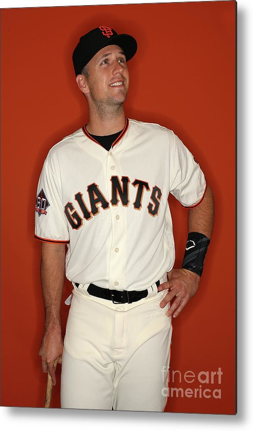 Media Day Metal Print featuring the photograph Buster Posey by Patrick Smith
