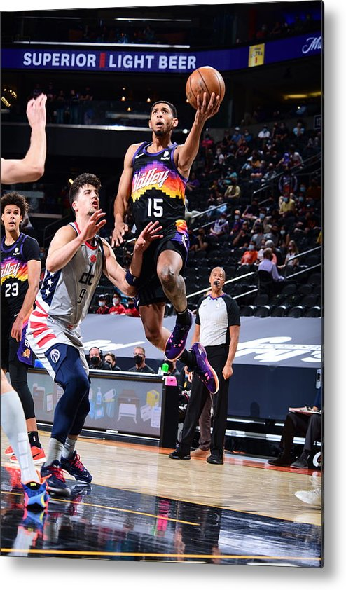 Nba Pro Basketball Metal Print featuring the photograph Cameron Payne by Michael Gonzales