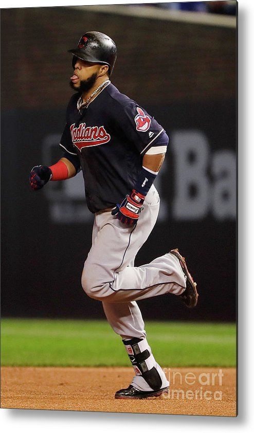 Second Inning Metal Print featuring the photograph Carlos Santana by Jamie Squire