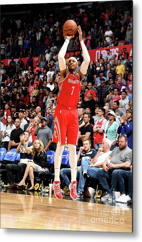 Nba Pro Basketball Metal Print featuring the photograph Carmelo Anthony by Andrew D. Bernstein