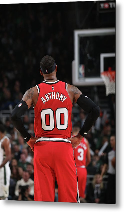 Nba Pro Basketball Metal Print featuring the photograph Carmelo Anthony by Gary Dineen