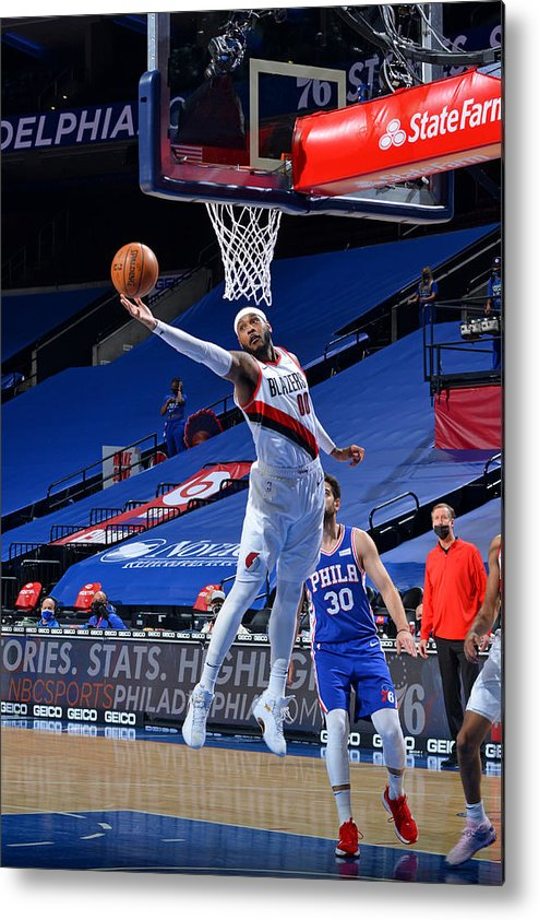 Nba Pro Basketball Metal Print featuring the photograph Carmelo Anthony by Jesse D. Garrabrant