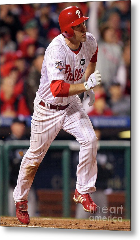 People Metal Print featuring the photograph Chase Utley by Jed Jacobsohn