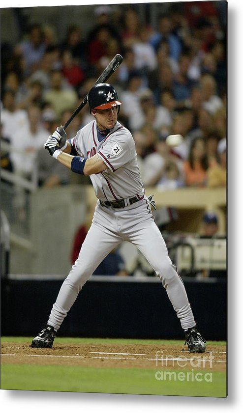 California Metal Print featuring the photograph Chipper Jones by Streeter Lecka