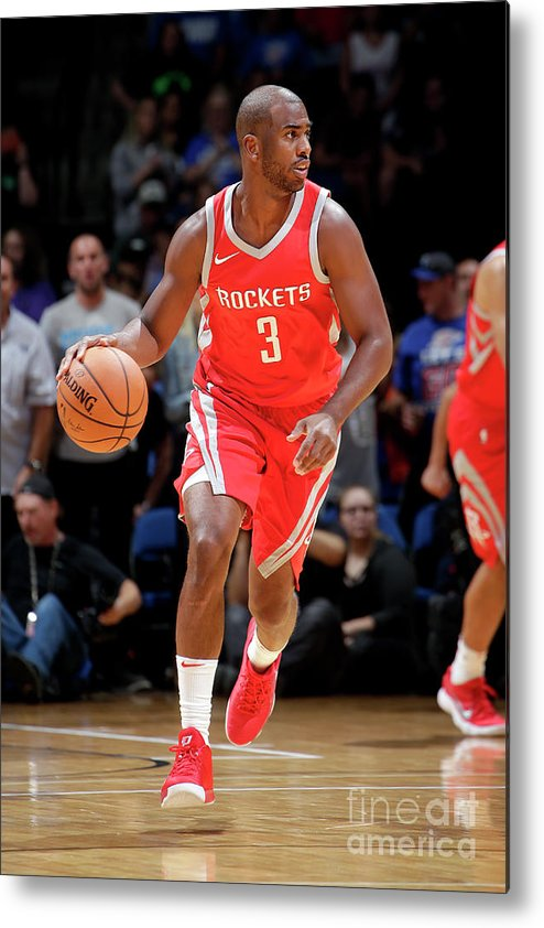 Nba Pro Basketball Metal Print featuring the photograph Chris Paul by Shane Bevel